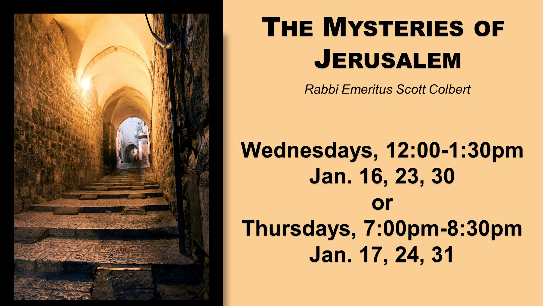 The Mysteries of Jerusalem LLL Page